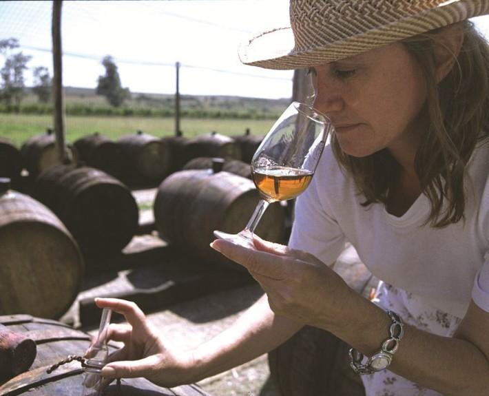 Uruguayan wine tasting.